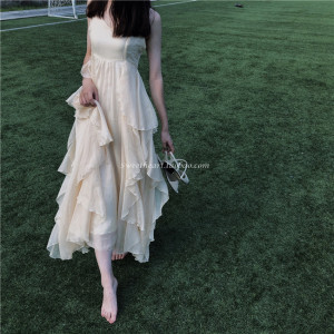 【Sweetheart】爱丽丝梦游仙境 大裙摆超重工大摆吊带<span class=H>连衣裙</span>