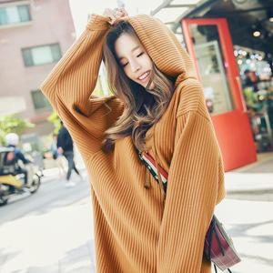 韩都衣舍2018韩版女装春装新款宽松条纹蝙蝠袖连衣裙GJ6933茆