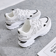 Summer 2019 New Fashion Mesh Shoes with Medium-heel and Thick-soled Antiskid Sports Shoes
