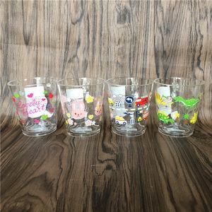 日本DAISO大创儿童刷牙杯<span class=H>漱口杯</span>喝水杯卡通塑料马克杯创意亚克力