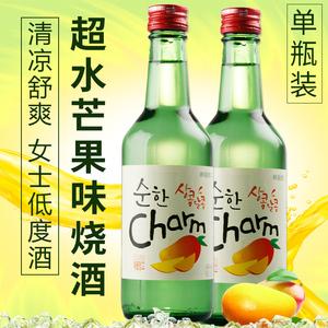 韩国进口果味<span class=H>烧酒</span>超水<span class=H>烧酒</span>芒果口味<span class=H>烧酒</span>360ml原装进口<span class=H>清酒</span>