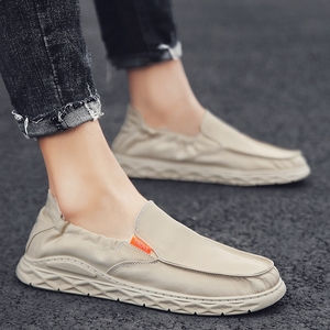 2019新款夏季<span class=H>男鞋</span>老北京布鞋男士休闲帆布潮鞋透气一脚蹬懒人板鞋