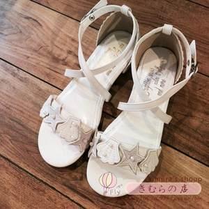 日系女鞋<span class=H>凉鞋</span>可爱甜美珍珠贝壳方跟低跟小清新文艺平底森女系学生