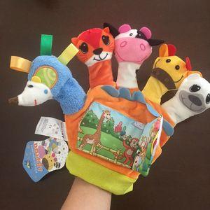 婴儿手偶玩具动物手套宝宝手指偶手偶带响纸小<span class=H>布书</span>讲故事套手玩偶