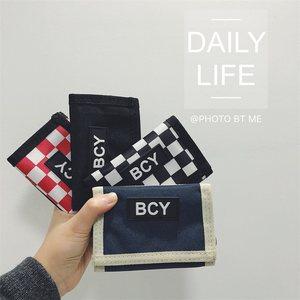 新款ins韩版魔术贴短款字母钱包学生挂绳钱包情侣零钱包港风潮包