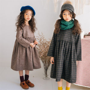 冬季2018新款女童加绒加厚<span class=H>连衣裙</span>韩版潮宽松中大童洋气呢子公主裙