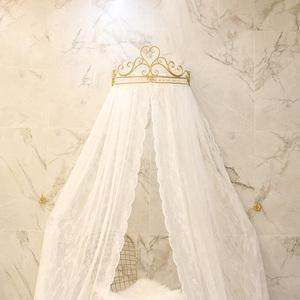公主皇冠<span class=H>床幔</span>蕾丝床头窗帘纱帐吊顶圆顶<span class=H>蚊帐</span>宫廷韩式婚庆装饰床帘