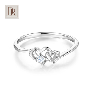 DR DarryRing <span class=H>珠宝</span>正品定制求婚结婚钻戒18K金订婚钻石戒指佩戴女