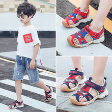 Boys'Sandals 2019 New Kids' Babies Korean Version Summer Boys'Baotou Boys' Spider-Man Shoes