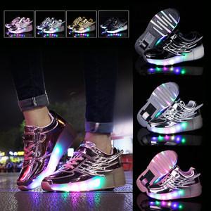 暴走鞋单轮儿童<span class=H>滑轮鞋</span>男童女童带轮的鞋小学生变形鞋青少年爆走鞋