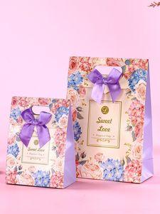 礼品包装袋精致小袋子手提翻盖婚礼庆糖果包装盒子创意<span class=H>礼品袋</span>欧式