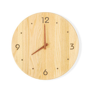 实木<span class=H>挂钟</span>简约客厅家用挂表日式创意原木质时钟卧室<span class=H>钟表</span>超静音北欧