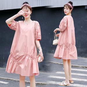 孕妇连衣裙夏装夏天裙子短袖中长款