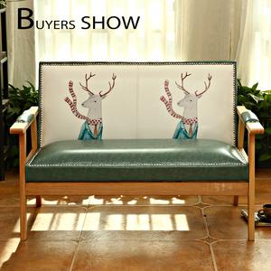 北欧小户型双人沙发现代简约实木单人沙发卧室阳台懒人休闲<span class=H>沙发椅</span>