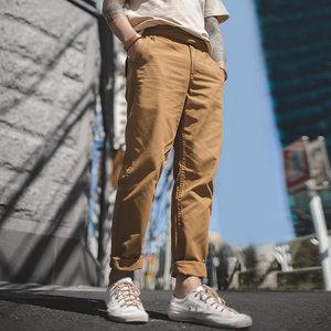 马登工装 美式复古廓尔格<span class=H>军裤</span>阿美咔叽复刻直筒休闲卡其长裤男士