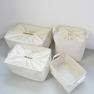 棉麻布艺可折叠衣柜收纳箱大号衣服衣物束口收纳筐玩具整理储物箱