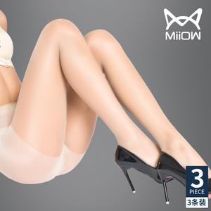 猫人夏季性感情趣丝袜女薄款防勾丝肉色黑丝超薄隐形连裤袜子正品