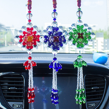 Hand-made Beaded car interior decoration car hanging Crystal Beaded in all directions to attract money car hanging decoration rearview mirror Pendant