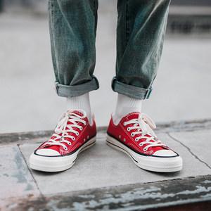 经典帆布鞋男夏季低帮系带韩版潮流百搭学生复古男鞋平底布鞋男潮