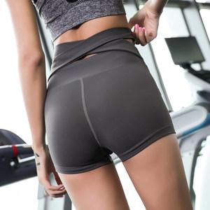 <span class=H>紧身</span>运动短裤<span class=H>女</span>夏季速干提臀翘臀短裤高腰瑜伽三分裤跑步健身<span class=H>热裤</span>