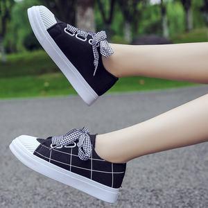 春秋帆布板鞋单鞋9女中大童10小学生11岁初高中学生休闲运动