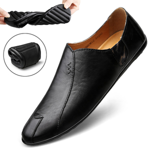【豆豆鞋】真皮透气一脚蹬男鞋休闲