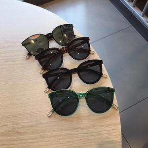 韩国新款太阳镜墨镜圆框<span class=H>眼镜</span>出游装饰搭配<span class=H>眼镜</span>女
