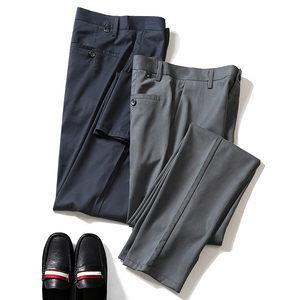 夏季商务男装 高端丝滑天丝弹力面料 男士修身薄款直筒休闲裤<span class=H>西裤</span>