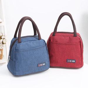 饭盒袋便当袋手提包带饭的袋手拎袋帆<span class=H>布袋</span>学生拎袋午餐包包