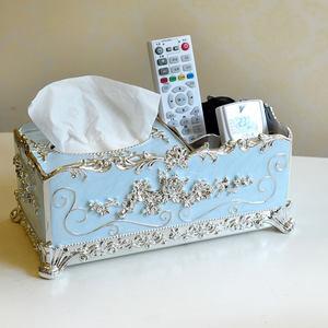 多用途<span class=H>纸巾盒</span>子抽纸盒遥控器收纳盒抽纸盒家用客厅简约可爱纸抽盒