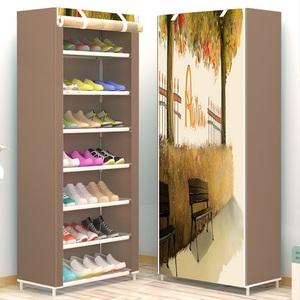 防尘不锈钢鞋架简易多层家用组装宿舍寝室<span class=H>鞋柜</span>收纳柜