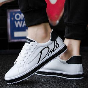 新款男鞋潮鞋秋季运动鞋单鞋子青年跑步鞋韩版百搭休闲鞋白色板鞋