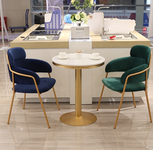 洽谈桌椅组合个性商务谈判小圆桌<span class=H>椅子</span>组合休闲店里单位专用休闲区