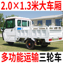 Electric tricycle truck load Wang La cargo farm oil-electricity dual-purpose carriage hillside household battery car