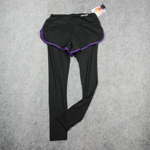 健身裤女<span class=H>假</span><span class=H>两件</span>打底防走光瑜伽跑步高腰弹力<span class=H>紧身</span><span class=H>长裤</span>薄款速干显瘦
