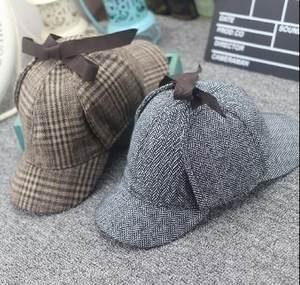 神探夏洛克周边福尔摩斯猎鹿帽 侦探卷福夏洛克同款<span class=H>帽子</span>双沿檐帽