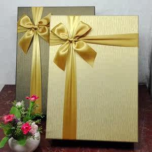 金色<span class=H>西装</span>超大号圣诞礼品盒长方形礼盒定制婚纱高档生日礼物<span class=H>包装盒</span>