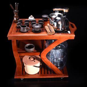 小茶车实木移动简约现代荼具茶台花梨木<span class=H>茶艺桌</span>功夫茶茶具套装家用