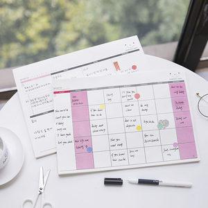 韩国创意办公桌面周计划本 ins日程表<span class=H>便签</span>本便利贴纸to do list