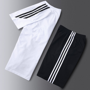 纯棉夏季三条杠套装短袖短裤时尚休闲男装运动衣服两件套夏天跑步