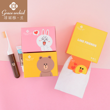 LINEFRIENDS disposable washcloth pure cotton soft towel and thicker cosmetic towel household towel