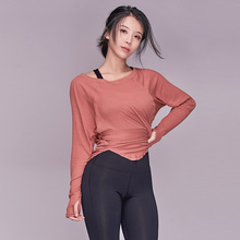 New Yoga t-shirt female JESSME Yoga suit with long sleeves, loose and slim, fitness jacket, quick-drying clothes, free of domestic freight