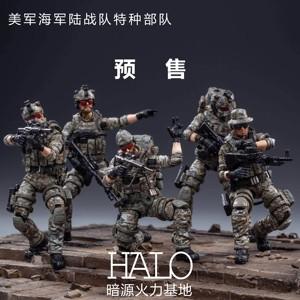 暗源1:18USMC美海军陆战特种部队 3.75可动兵人军事模型<span class=H>玩具</span> 预售
