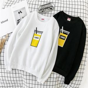 韩版加绒长袖T恤学生潮帅气无帽薄款