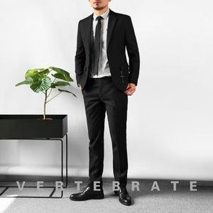 脊椎动物<span class=H>男装</span>韩版修身黑色西装西裤两件套欧美风花里布<span class=H>西服</span>套装