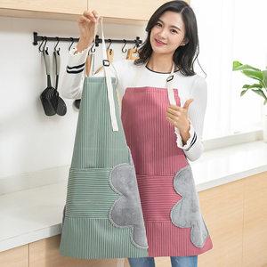 日式创意可擦手<span class=H>围裙</span>防水防污半身家用厨房时尚印花<span class=H>围裙</span>成人女新品