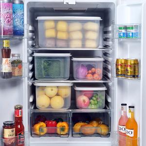 大容量冰箱保鲜盒塑料鸡蛋<span class=H>收纳</span>盒超大果蔬干货储藏杂粮密封盒米<span class=H>桶</span>