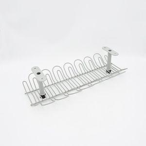 电线收纳槽 桌底插线板收纳 桌下电线收纳装置 吊线槽 电线槽加高