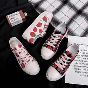 草莓鞋板鞋软妹小白鞋帆布鞋