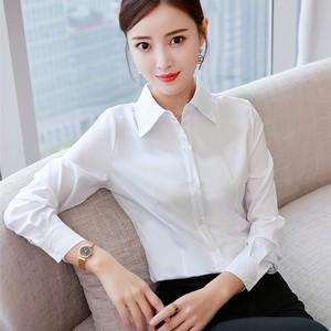 邂幕白衬衫女长袖韩版职业正装工装修身工作服大码衬衣<span class=H>女装</span>